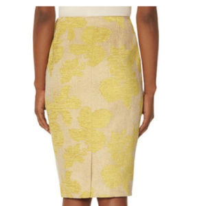 NWT The Limited Floral Linen Pencil Skirt